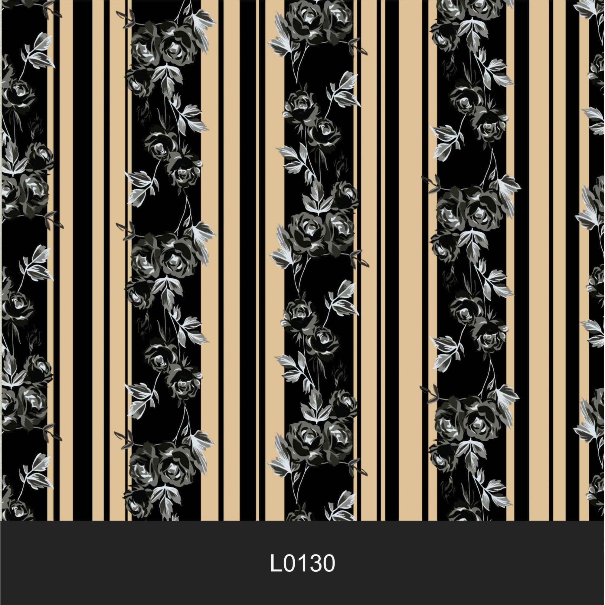 Papel de Parede Auto Adesivo Lavável  Listrado 0130 Preto e Dourado Retro  - Final Decor