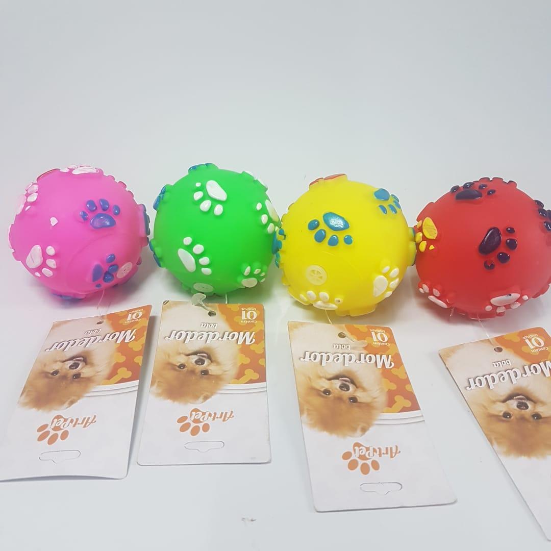 Pet Mordedor C/ Som Kit C/ 4 Bolinhas Para Cachorro Cão  - Final Decor