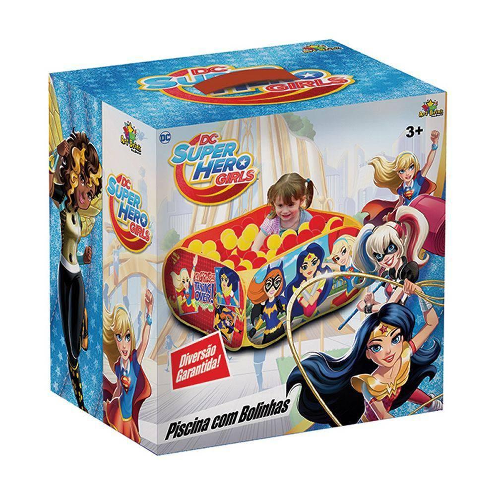 Piscina De Bolinhas Dc Super Hero Infantil + 100 Bolinhas  - Final Decor