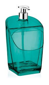 Porta Detergente e Esponja Verde Translúcido Uz  - Final Decor