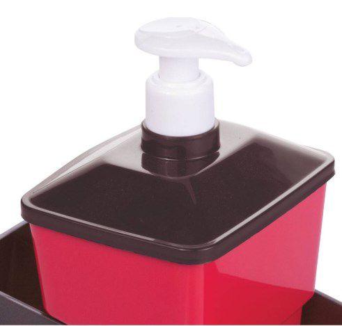 Porta Detergente Vermelho Completo 6977 Plasútil  - Final Decor