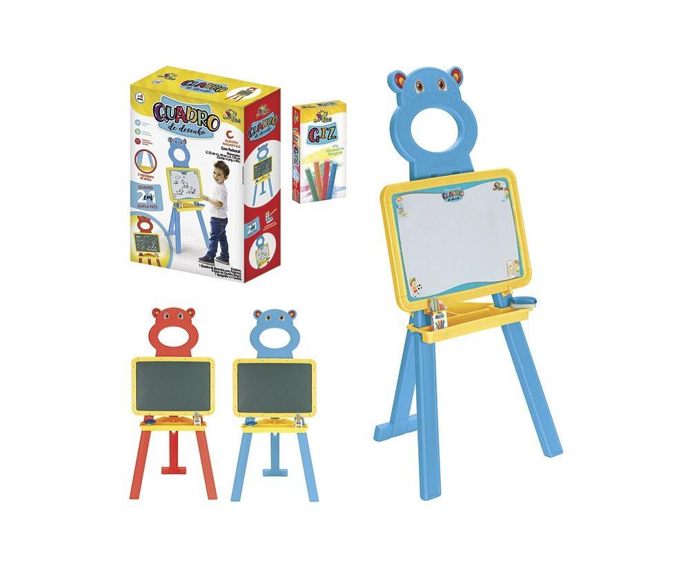 Quadro De Desenho Infantil 2 Em 1 C/ Regulagem - Art Brink Azul  - Final Decor