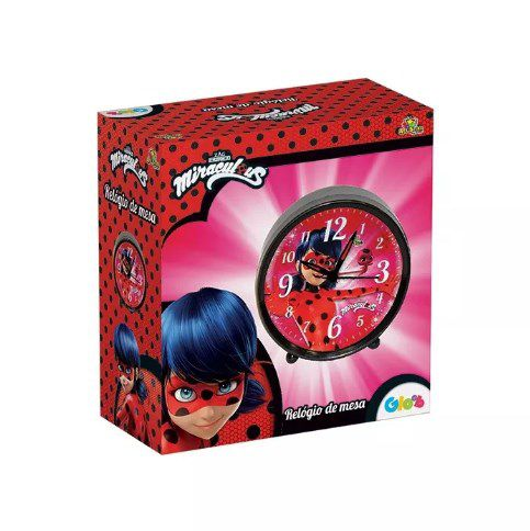 Relógio De Mesa Despertador Miraculous Ladybug  - Final Decor