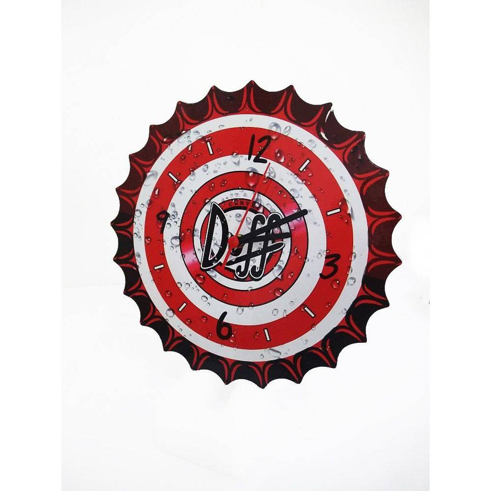 Relógio De Parede Duff Tampa de Garrafa  - Final Decor