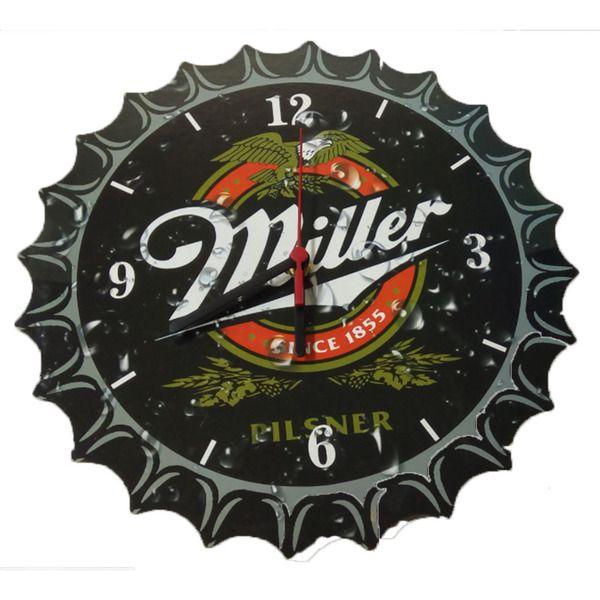 Relógio De Parede Miller Tampa de Garrafa  - Final Decor