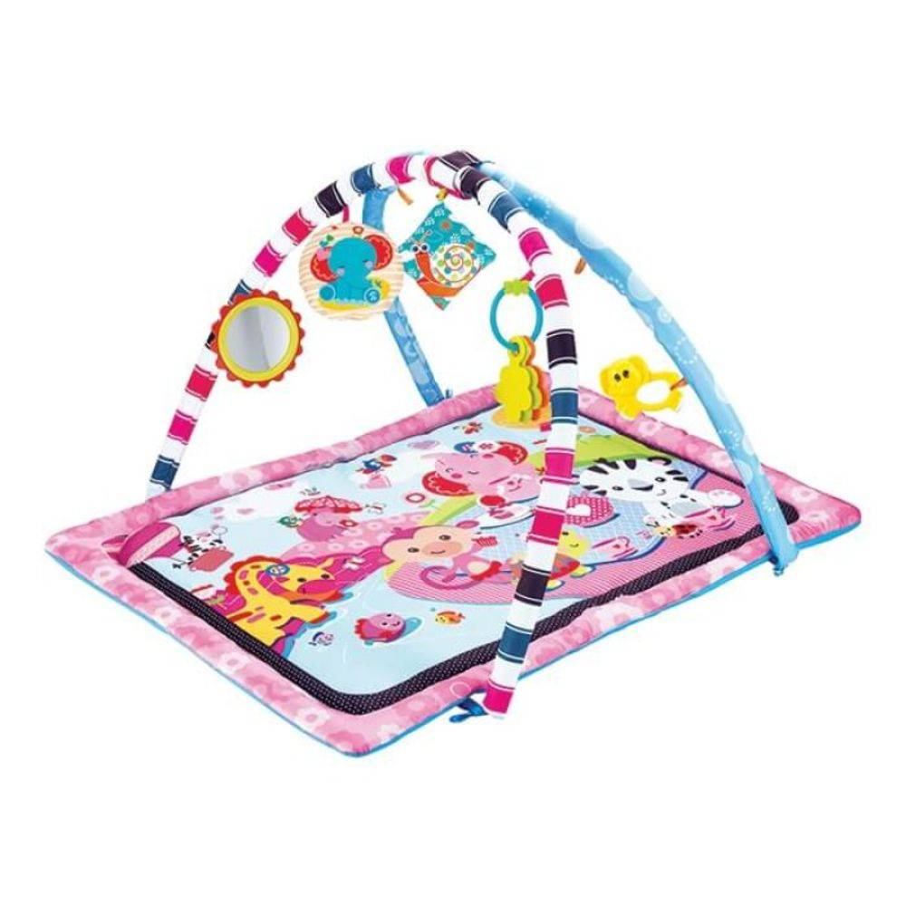 Tapete De Atividades Baby 5 Peças Rosa - Art Brink  - Final Decor