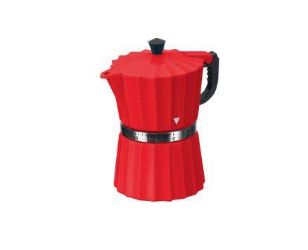 Timer Temporizador de Cozinha Cafeteira Art House Vermelho  - Final Decor