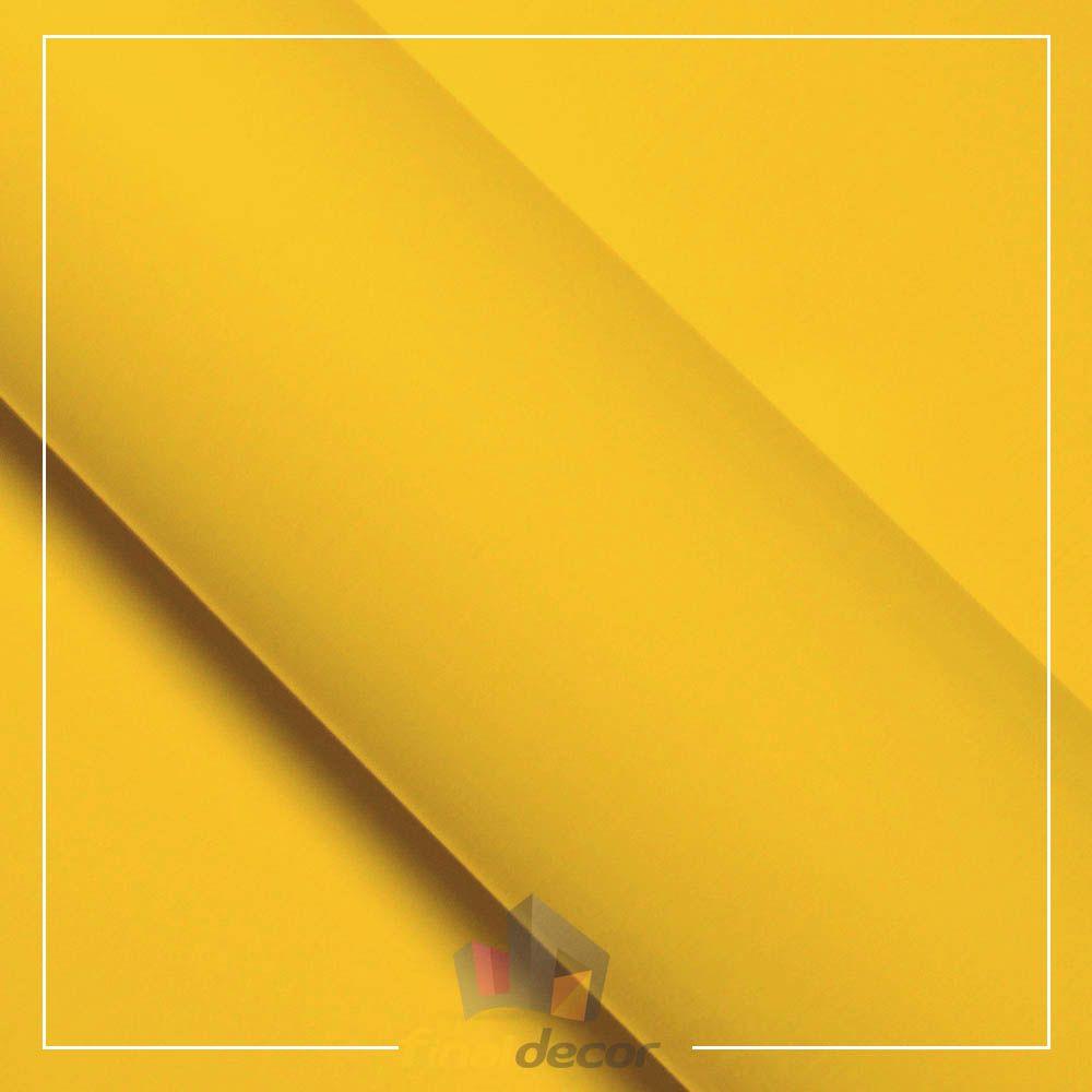 Vinil Adesivo Amarelo Milano 0,50 cm largura x 1,0 Metro Comprimento  - Final Decor