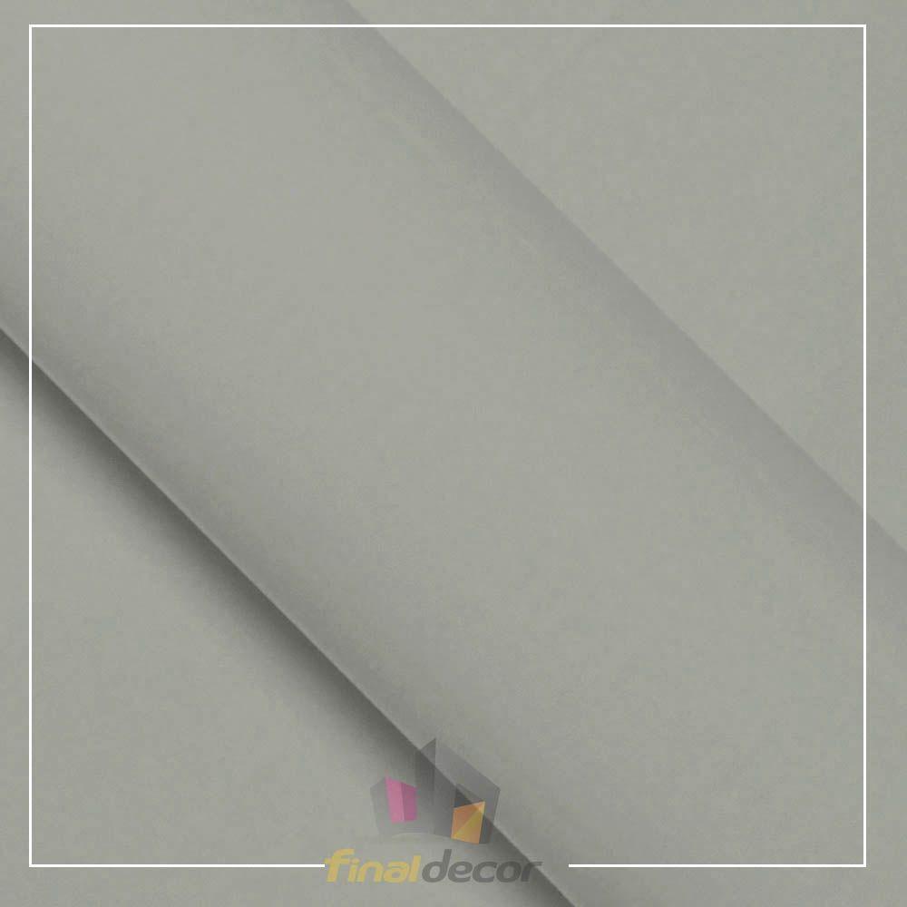 Vinil Adesivo Cinza Claro 0,50 cm largura x 1,0 metro de comprimento.  - Final Decor