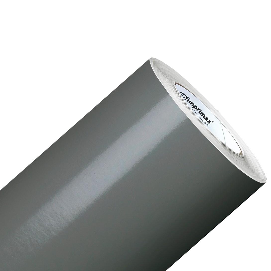 Vinil Adesivo Cinza Escuro 0,50 cm largura x 1,0 metro de comprimento.  - Final Decor