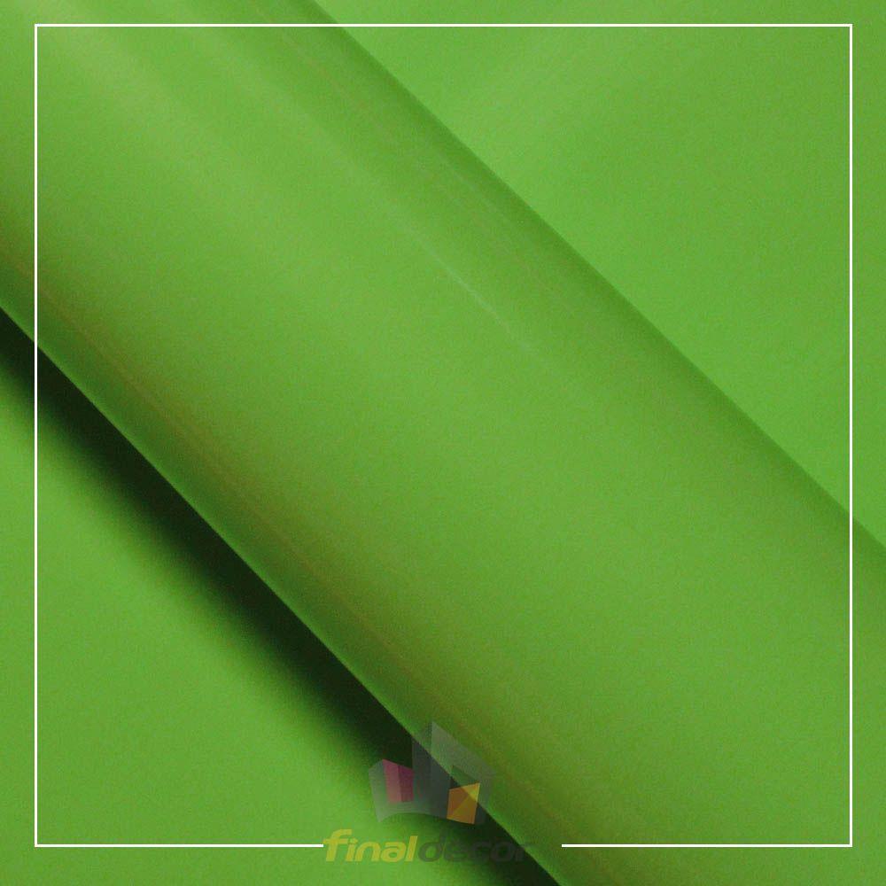 Vinil Adesivo Verde Abacate 0,50 cm largura x 1,0 metro de comprimento.  - Final Decor