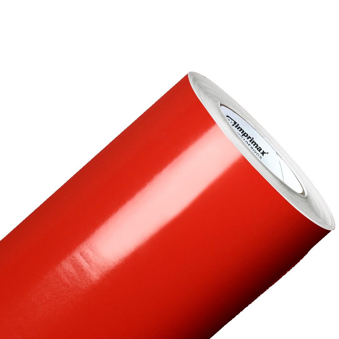 Vinil Adesivo Vermelho Vivo 0,50 cm largura x 1,0 metro de comprimento.  - Final Decor