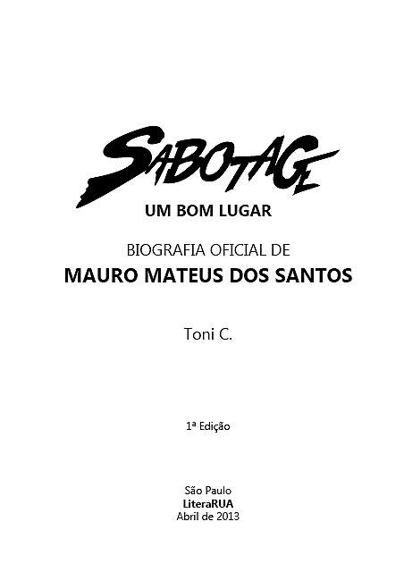 Sabotage - Um Bom Lugar (Esgotado)  - LiteraRUA