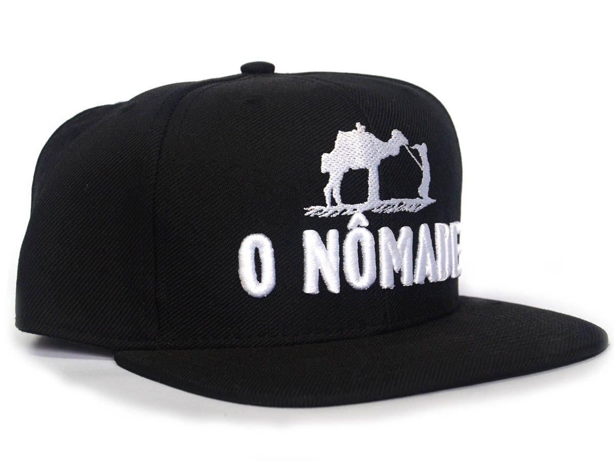 Boné O Nômade - Gaspar Z´África Brasil - Preto SnapBack (Regulável)  - LiteraRUA
