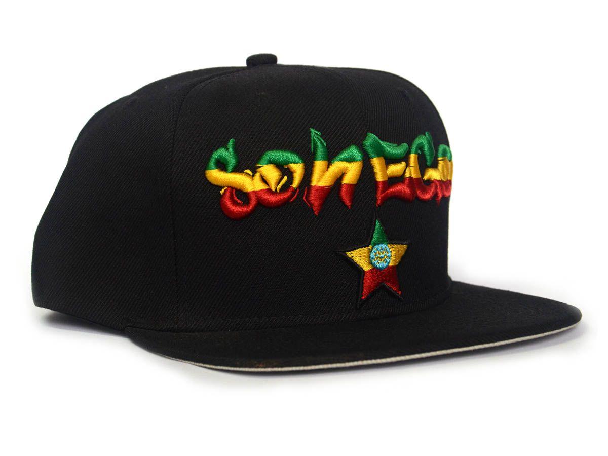 Boné Sonego Preto Reggae  - LiteraRUA
