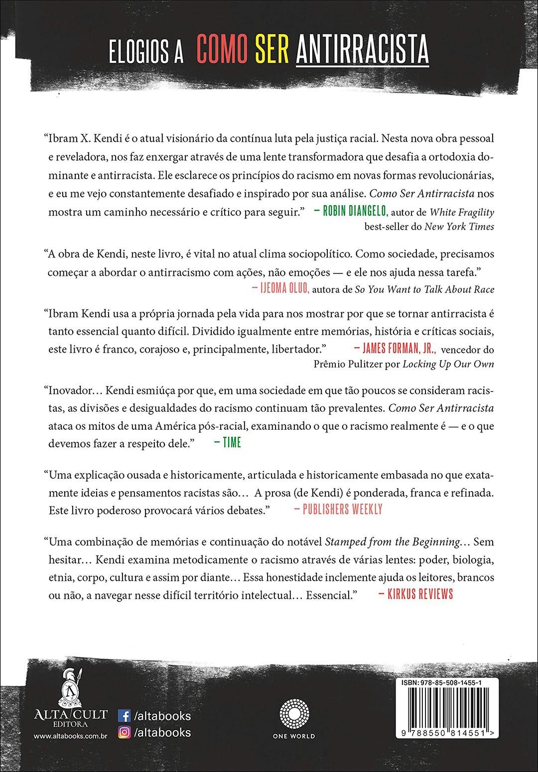 Como Ser Antirracista - Ibram X. Kendi  - LiteraRUA