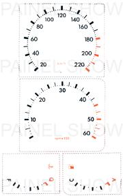 Kit Neon p/ Painel - Cod57v220 - Opala / Caravan  - PAINEL SHOW TUNING - Personalização de Painéis de Carros e Motos