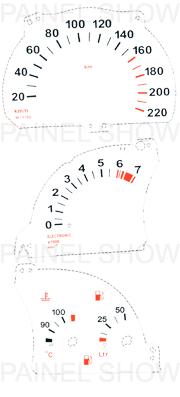 Kit Neon p/ Painel - Cod61v220 - Vectra até 1996 / Calibra  - PAINEL SHOW TUNING - Personalização de Painéis de Carros e Motos