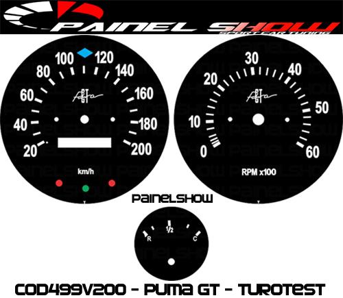 Kit Translúcido p/ Painel - Cod499v200 - Puma GT Turotest  - PAINEL SHOW TUNING - Personalização de Painéis de Carros e Motos
