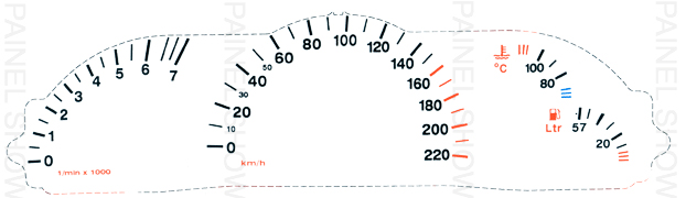 Kit Neon p/ Painel - Cod64v220 - Vectra  - PAINEL SHOW TUNING - Personalização de Painéis de Carros e Motos