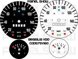 Kit Translúcido p/ Painel - Cod575v160 - Brasilia até 160km/h  - PAINEL SHOW TUNING - Personalização de Painéis de Carros e Motos