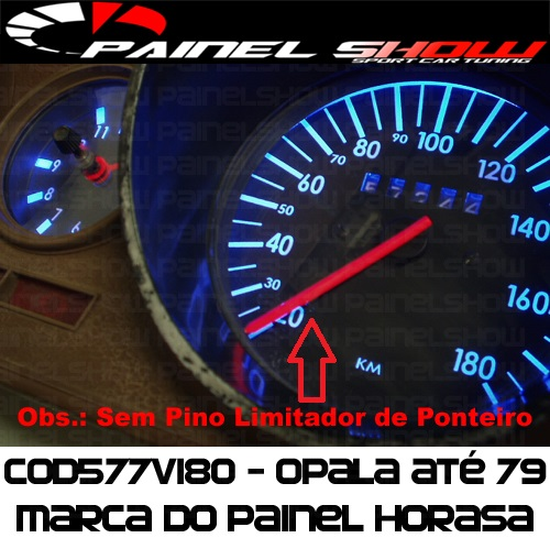 Kit Translúcido p/ Painel - Cod577v180 - Opala J990 - Horasa  - PAINEL SHOW TUNING - Personalização de Painéis de Carros e Motos
