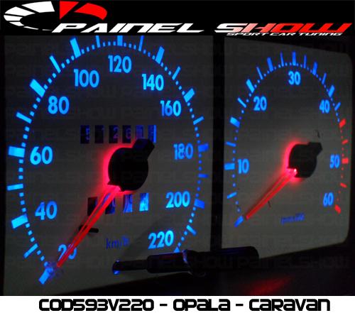Kit Translúcido p/ Painel - Cod593v220 - Opala Caravan 1987 Ed  - PAINEL SHOW TUNING - Personalização de Painéis de Carros e Motos