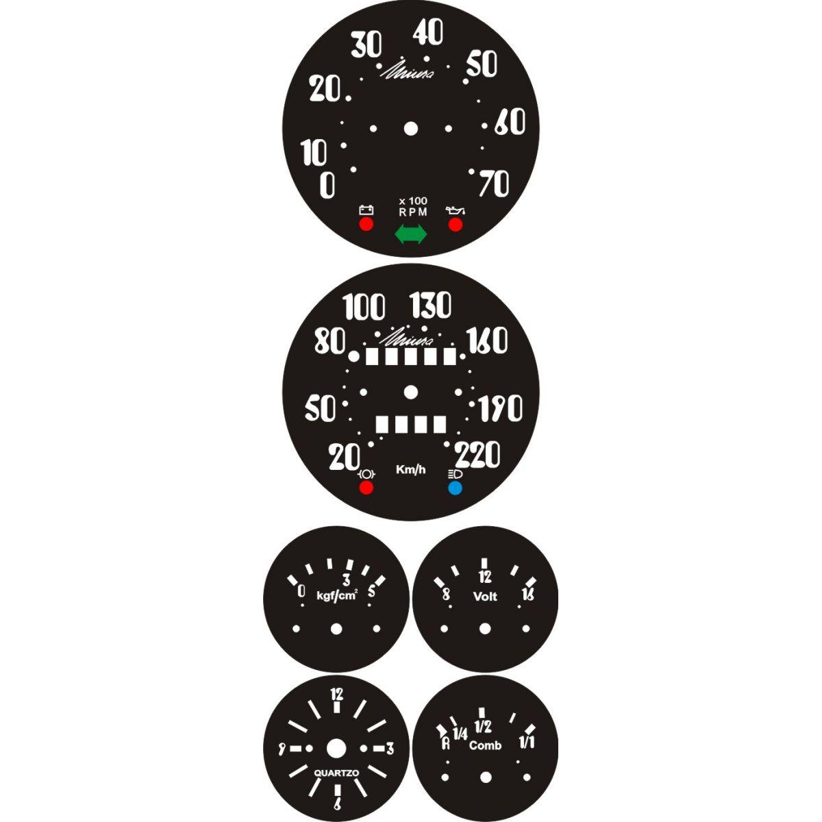 Kit Translúcido p/ Painel - Cod595v220 - Miura  - PAINEL SHOW TUNING - Personalização de Painéis de Carros e Motos