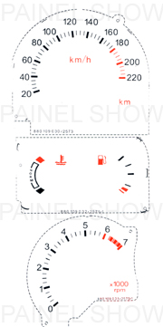 X Kit Neon p/ Painel - Cod78v220 - Escort  - PAINEL SHOW TUNING - Personalização de Painéis de Carros e Motos