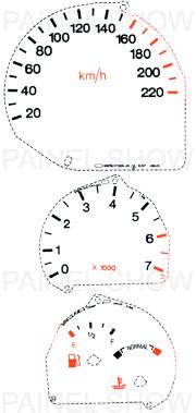 X Kit Neon p/ Painel - Cod81v220 - Escort Zetec  - PAINEL SHOW TUNING - Personalização de Painéis de Carros e Motos
