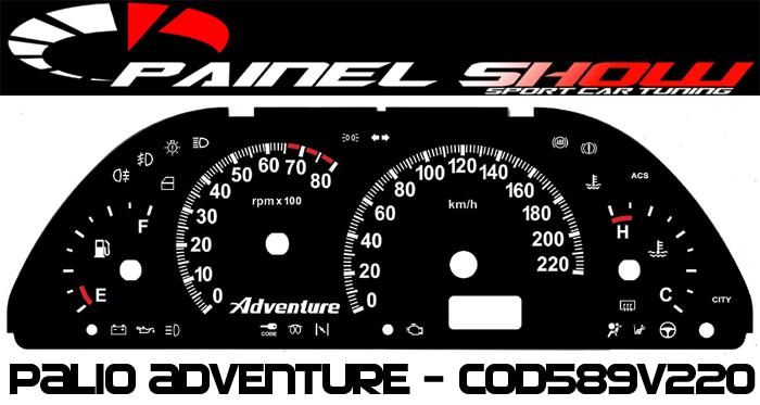 Kit Translúcido p/ Painel - Cod589v220 - Palio Strada Adventure  - PAINEL SHOW TUNING - Personalização de Painéis de Carros e Motos