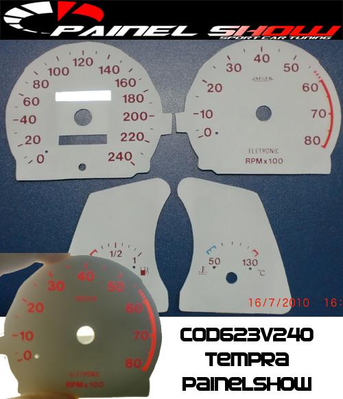 Kit Translúcido p/ Painel - Cod623v240 - Tempra 95 a 99  - PAINEL SHOW TUNING - Personalização de Painéis de Carros e Motos