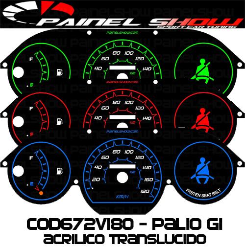 Kit Translúcido p/ Painel - Cod672v180 - Palio Siena Strada Antigo G1  - PAINEL SHOW TUNING - Personalização de Painéis de Carros e Motos