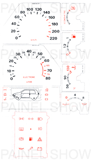 Kit Neon p/ Painel - Cod91v220 - Uno 1.5R / 1.6R  - PAINEL SHOW TUNING - Personalização de Painéis de Carros e Motos