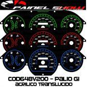 Kit Translúcido p/ Painel - Cod648v200 - Palio Antigo com Contagiros