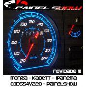 Monza Kadett Ipanema Cod554v220 Mostrador Tuning Translucido p/ Personalização de Painel - Show !