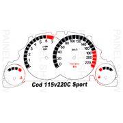 X Adesivo p/ Painel - Cod115v220 - Corsa Meriva Montana
