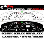 Kit Translucido p/ Painel - Cod632v220 - Brava Marea 220km/h com Check-Control