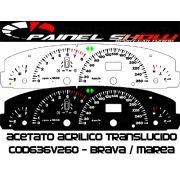 Kit Translucido p/ Painel - Cod636v260 - Brava Marea 260km/h com Check-Control