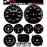 Kit Translucido p/ Painel - Cod677v180 - Chevette SR GP - Painelshow