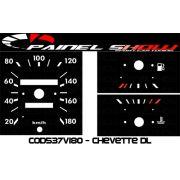 Kit Translúcido p/ Painel - Cod537v180 - Chevette DL SLE