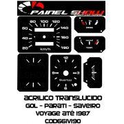Kit Translucido p/ Painel - Cod661v190 - Gol até 1987