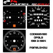 Kit Translúcido p/ Painel - Cod668v180 - Opala 1981 a 1984