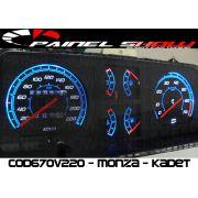 Kit Translucido p/ Painel - Cod670v220 - Monza com Contagiros