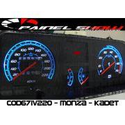 Kit Translúcido p/ Painel - Cod671v220 - Kadett com Contagiros