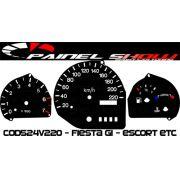Kit Translúcido p/ Painel - Cod524v220 - Escort Courier Fiesta