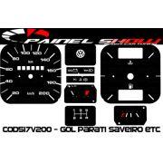 Kit Translúcido p/ Painel - Cod517v200 - Gol Parati Santana sem Parcial