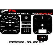 Kit Translucido p/ Painel - Cod518v180 - Gol 1000 Motor CHT
