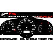 Kit Translúcido p/ Painel - Cod525v200 - Gol Bola G2 Contagiros - Compativel apenas com Magnetti Marelli