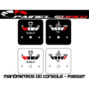 Placas Translúcida p/ Manômetro do Console Passat - Voltímetro e Temperatura de Óleo